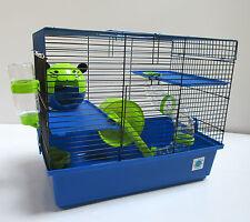 Dexter Grande Azul Y Cal Jaula Animales Pequeños Hamster Jaula 2 pisos con tubos