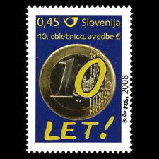 Slovenia 2008 - 10th Anniversary of the Euro - Sc 766 MNH