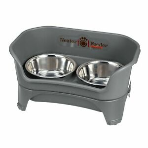 Neater Feeder Express (Medium to Large Dog, Gunmetal) - with Stainless St... New