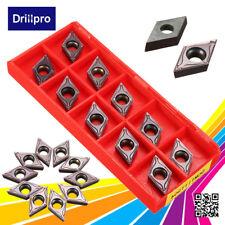 10x DCMT11T304 VP15TF Wendeschneidplatten Hartmetall Wendeplatten für Alu Stahl