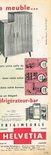 E- Publicité Advertising 1962 Refrigerateur Bar Frigimeuble Helvetia