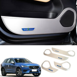 For Volvo XC60 2018-19 Car Door Anti-kick board Refit Cover trim Stainless steel