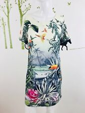 H&M Conscious Collection Size 8 Short Sleeve Tropical Print Toucan Shift Dress