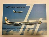 Vintage Lufthansa Airlines Boeing Brochure early 1960s Rare Find