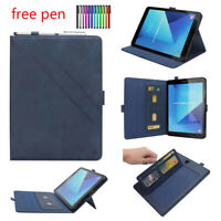 For Samsung Galaxy Tab S3 9.7 T820 T825 PU Leather Smart Wallet Cover Case Stand