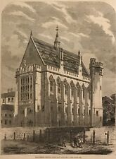 The Inner Temple New Law Library. Wood Engraving, 1860.