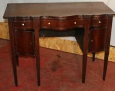 1830 Mahogany Serpentine Front Desk