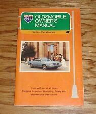 Original 1983 Oldsmobile Cutlass Ciera Owners Operators Manual 83