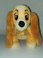 LADY FROM LADY AND THE TRAMP DISNEY STORE ORIGINAL PLUSH SOFT TOY TEDDY GIFT