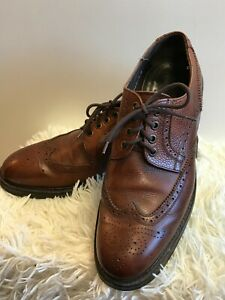Men's Russell & Bromley Tan Leather Chunky Sole Lace Up Brogues size UK 7.5