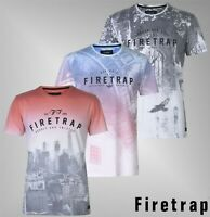 Mens Firetrap Short Sleeves Crew Neck Printed Suburb T Shirt Sizes from S to XXL