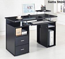 Computer Desk Office PC Table Laptop Black Work Station Modern Home Furniture
