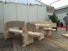 rustikale Holzgarnitur/Sitzgruppe Bierbank aus Weißtanne 235cm