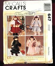 """McCALL'S #647 Betsy McCall 18"""" DOLL Clothes winter wardrobe UNCUT © 1995 SCARCE"""