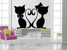 Wall Stickers Vinyl Decal Love Kittens Pets Heart Wall Decor Mural Vinyl  ig046