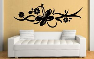 Butterfly Ornament Wall Sticker Vinyl Decoration Mural Decal Wall Tattoo Floral