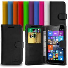 Custodia Flip Cover Pelle Portafogli Per Nokia Microsoft Lumia 535 + Pellicola
