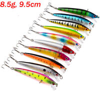 10pcs Kinds of Colorful Fishing Lures Crankbaits Hooks Minnow Baits Tackle Crank