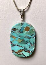 Santo Domingo Turquoise Mosaic Sterling Pendant - Nate Garcia
