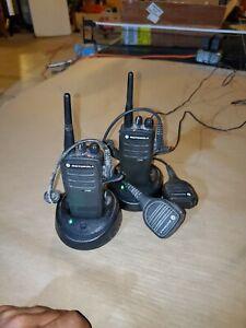 Motorola CP200D VHF Radio-Only - Black - Pair (1)