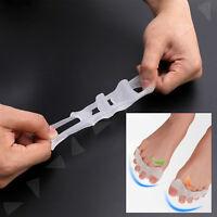 2Pcs Toe Straightener Separator Gel Bunion Spreader Corrector Pain Relief Nice
