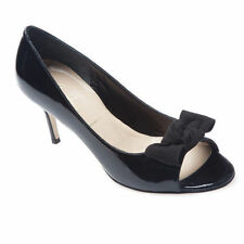 Patent Leather Open Toe Solid Heels for Women