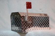 TuffMailBox 9819 Heavy Duty Aluminum Dimond Plate 16 Gauge MailBox Meduim Size