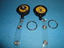 """#2 Pittsburgh STEELERS Retractable Reel ID Badge Belt Clip ,1"""" Key Ring"""