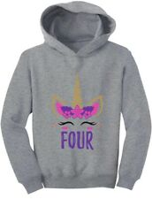 Gift for 4 Year Old Girl Unicorn 4th Birthday Toddler Hoodie Bday Gift