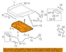 TOYOTA OEM 10-16 4Runner Hood-Insulation Pad Liner Heat Shield 5334135160