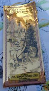 2020 FIFTY UTAH GOLDBACK Aurum Gold Foil Note - 24K gold 1/20 oz.
