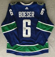 76c36823857 Brock Boeser Vancouver Canucks 2018-2019 Game-Worn Autographed Home Jersey
