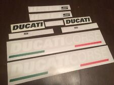FOR DUCATI 1198s full decals stickers graphics logo set kit white/black