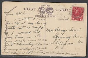 Canada - Oct 11, 1921 Sable River West, NS Split Ring Cancel on Domestic Card