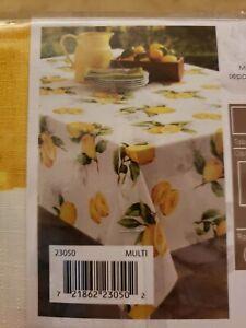 Limoncello Lemon Tablecloth 60 X 84 Indoor Outdoor Benson Mills