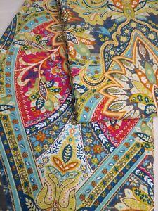 "World Market Boho Bohemian Alessia Paisley Shower Curtain Unused 72""×72"" (#242)"