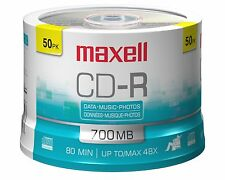 Music CD-R Discs Media for Audio Video Data Recordable 50 Pack Spindle Blank