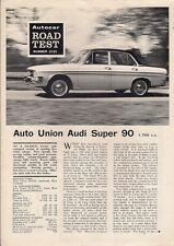 Auto Union Audi Super 90 4-dr 1967 UK Market Road Test Brochure Autocar