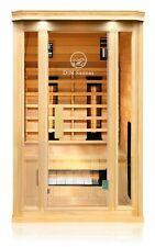 Hemlock Wood Ceramic FAR Infrared Heated 2 Person Indoor Sauna