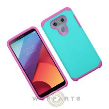 LG G6 Advanced Armor Case - Teal Green/Hot Pink Shell Protector Guard Shield