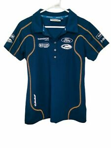Ford Performance Racing Official Team Shirt FPR Ladies Size 16 Dark Blue Polo