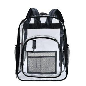 Aosbos PVC Waterproof Transparent School Bag See Through Backpack