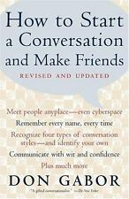 How to Start a Conversation and Make Friends by Don Gabor HARDCOVER.NEW