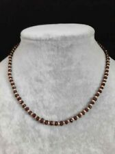100% Natural Ruby Faceted Gemstone Beaded Necklace 14k Gold Over Beads & Clasp