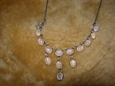 optical rose quartz multi cabochon necklace one only shop clearout item