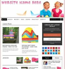 Established PARTY SUPPLIES STORE Online Business Website For Sale, Free Domain