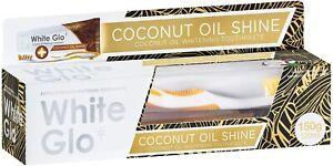 White Glo Coconut Oil Shine Toothpaste 120ml | Polishing & Whitening Toothbrush
