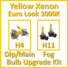 Warm White 3000K Yellow Xenon Headlight Bulb Set Main Dip Fog H4 H11 Kit