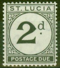 More details for st lucia 1933 2d black sgd4 fine very lightly mtd mint