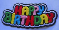Aufnäher Geburtstag  Patch Happy Birthday